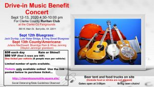 Bluegrass/County Music Drive-In Concerts @ Clarke County Ruritan Fairgrounds